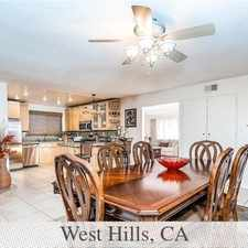 Rental info for West Hills, Great Location, 3 Bedroom House. in the Los Angeles area