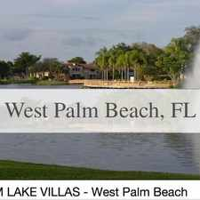 Rental info for PALM LAKE CONDOS Is Resort Style Living! in the West Palm Beach area