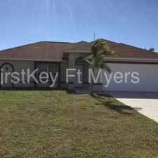 Rental info for 4410 Northwest 32nd Terrace in the Cape Coral area