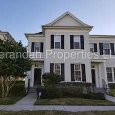 Rental info for Spacious 3/2.5, 2-Story Townhome with 2 Car Detached Garage in Desirable Baldwin Park - Orlando in the Orlando area