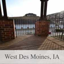 Rental info for 2 Bedroom, 2 Bath Condominium In West Des Moines in the West Des Moines area