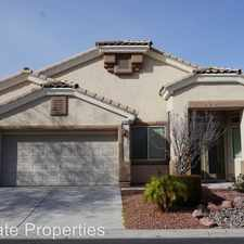 Rental info for 3208 TANAGRINE DR in the North Las Vegas area