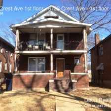 Rental info for 6723 Crest Ave 1st floor in the St. Louis area
