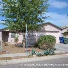 Rental info for 1652 W Thorne St. in the Tucson area