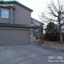 Rental info for 7063 BIG TIMBER DR in the Colorado Springs area