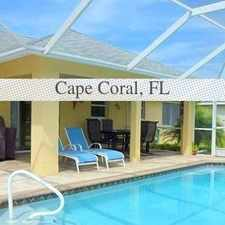 Rental info for VACATION VILLA ERICA - Highly Sought After Sout... in the Cape Coral area