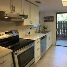 Rental info for Wooded And Secluded End Unit In Prestigious Tra...