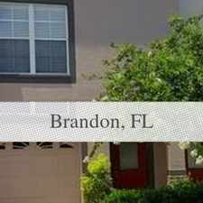 Rental info for Three Story Town Home Is Gated Community In The... in the Brandon area