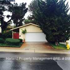 Rental info for 4379 Robbins street in the San Diego area