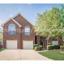 Rental info for Great 4 bedroom home in Quail Creek in the McKinney area