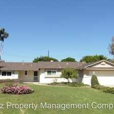 Rental info for 17581 Arbolada Way in the North Tustin area