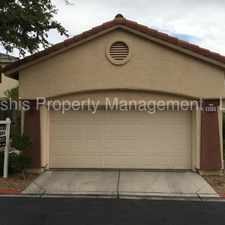 Rental info for SINGLE STORY IN GATED SUMMERLIN COMMUNITY in the Las Vegas area