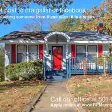 Rental info for 100 Linwood Ct. in the Little Rock area