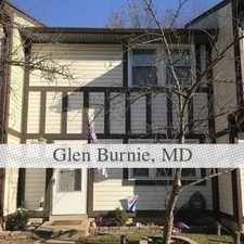 Rental info for Recently Update Town Home With Eat In Kitchen A... in the Glen Burnie area
