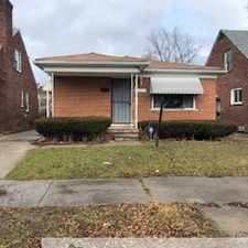 Rental info for Brick Newly Painted 3 Bedrom Bungalow, hardwood floors throughout. New Plumbing throughout, Ceramic Bathroom, Vinyl windows in the Detroit area