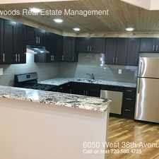 Rental info for 6050 West 38th Avenue in the Denver area