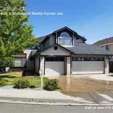Rental info for 6010 Citation Ct. in the Reno area