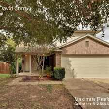 Rental info for 1466 David Curry in the Round Rock area