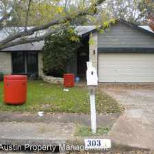 Rental info for 303 Meadow Lea in the Austin area