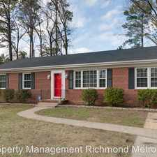 Rental info for 8906 Avalon Drive in the Richmond area