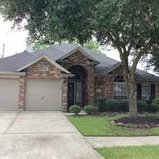 Rental info for 3807 Kimberly Drive in the Pearland area