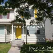 Rental info for 645 W Lewis St in the Pocatello area
