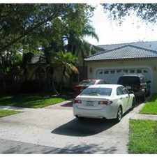 Rental info for embassy lakes home in desirable cooper city in the Cooper City area