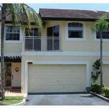 Rental info for BEAUTIFUL CORAL SPRINGS TOWNHOME in the Coral Springs area