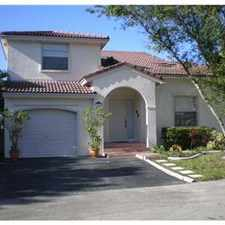 Rental info for AWESOME RESIDENCE AT SAWGRASS RENTAL in the Sunrise area