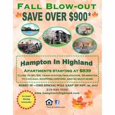 Rental info for Hampton In Highland in the 46322 area