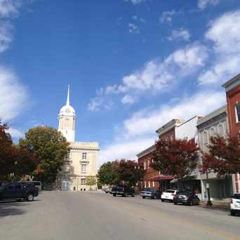 Photo of View Looking North on Main street towards the Columbia, Tennessee Courthouse and Public Square in Columbia