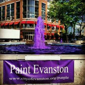 Photo of Fountain Square in Evanston