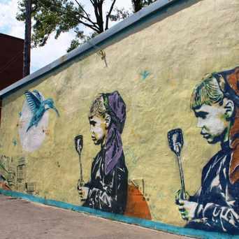 Photo of La Tentation d'Exister Mural in Montréal