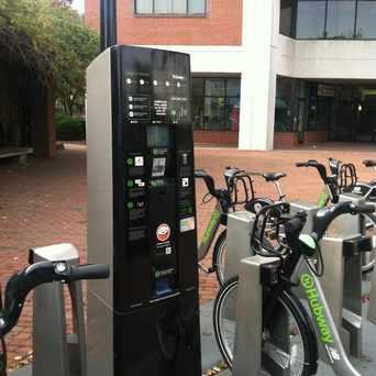 Photo of Hubway Bike Station in Davis Square, Somerville