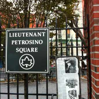 Photo of Lieutenant Pretrosino Square in SoHo, New York