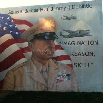 Photo of General James Doolittle Mural in Lancaster