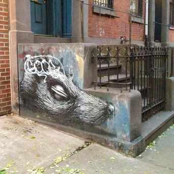 Photo of Stoop graffiti in Bowery, New York