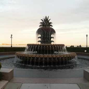 Photo of Pineapple fountain near The Battery in Charleston