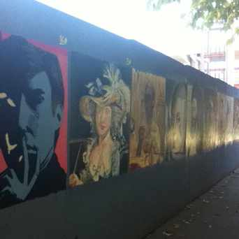 Photo of Copied Masterpieces On Wall On Campus Of SJSU in Downtown, San Jose