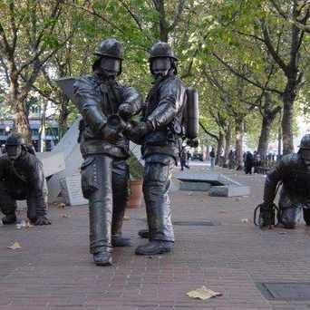 Photo of Seattle Fallen Firefighters Memorial in Pioneer Square, Seattle
