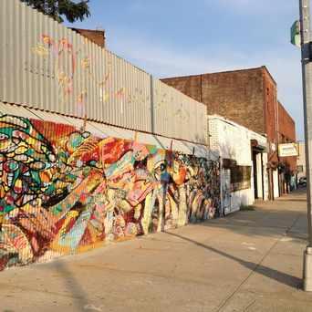 Photo of Wellington court murals in Astoria, New York