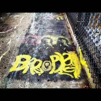 Photo of Stencil On Overpass in Allston, Boston