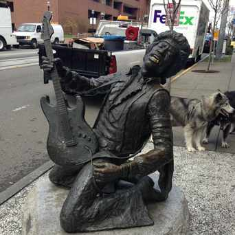 Photo of Jimi Hendrix Statue in Capitol Hill, Seattle