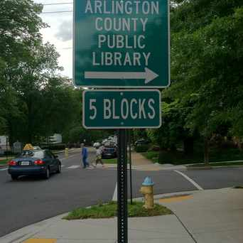 Photo of Street Sign for Arlington Public Library in Aurora Highlands, Arlington