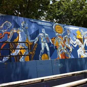 Photo of English High School Football Field Mural in Jamaica Central - South Sumner, Boston