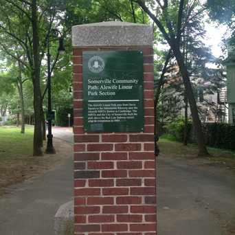 Photo of Somerville Community Path in Davis Square, Somerville