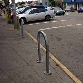 Photo of Bike Rack On Ocean Avenue in Merced Manor, San Francisco