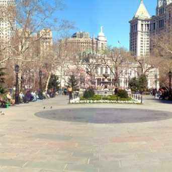 Photo of City Hall Park in New York