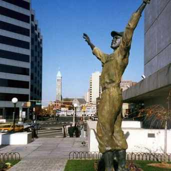 Photo of Jackie Robinson Statue in Journal Square, Jersey City