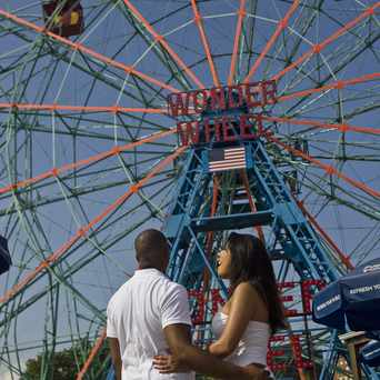 Photo of Deno's Wonder Wheel Amusement Park in Coney Island, New York
